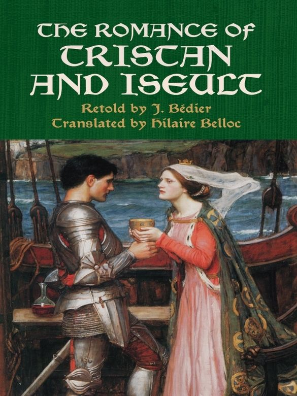 The Romance of Tristan and Iseult by J. Bédier   This immortal tale concerns the doomed love between a knight and a princess — one of the great romances of medieval literature, along with that of Lancelot and Guinevere. The heroic Tristan, nephew and champion of King Mark of Cornwall, journeys to Ireland to bring home his uncle's betrothed, the fair Iseult. Their shipboard voyage takes a tumultuous turn with a misunderstanding and a magic potion, and the lovers quickly...
