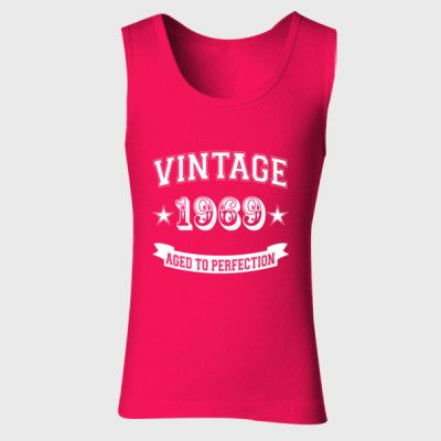 Vintage 1969 Aged To Perfection Tshirt - Ladies' Soft Style Tank Top