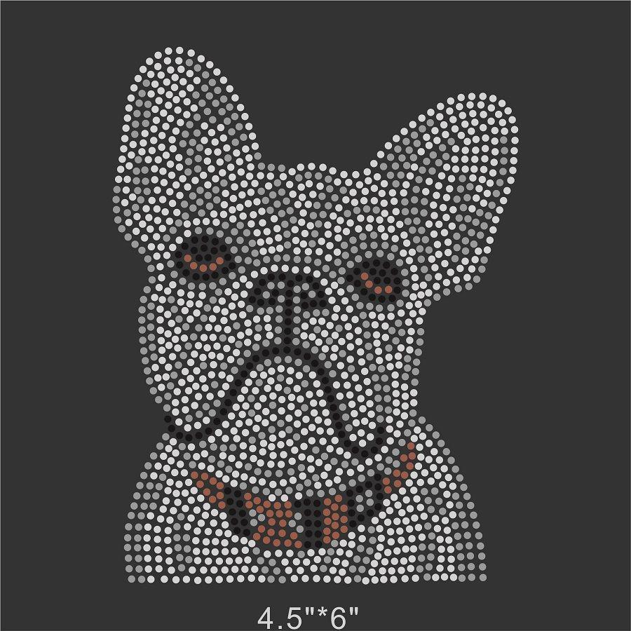 foto de Cute Bulldog Iron On Rhinestone Design Bling Bling For DIY Apparel ...