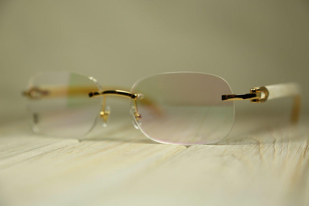 Cartier C Cartier C Décor Glasses White horn, Golden finish. REF ...