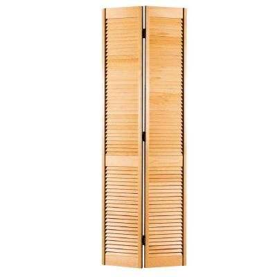 Masonite 36 In X 80 In Full Louvered Unfinished Hollow Core Pine