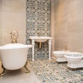 Marokanska Lazienka Z Ornamentami Dekoracyjne Plytki Gresowe Z