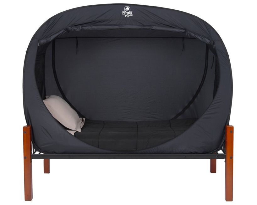 """privacy pop tent"""" - seems like a neat idea, but noise is what"""