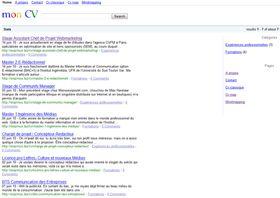 Quoi De Plus Naturel Pour Un Referenceur Que De Faire Un Curriculum Vitae Qui Ressemble Au Site De Google Curriculum Vitae Le Cv Curriculum