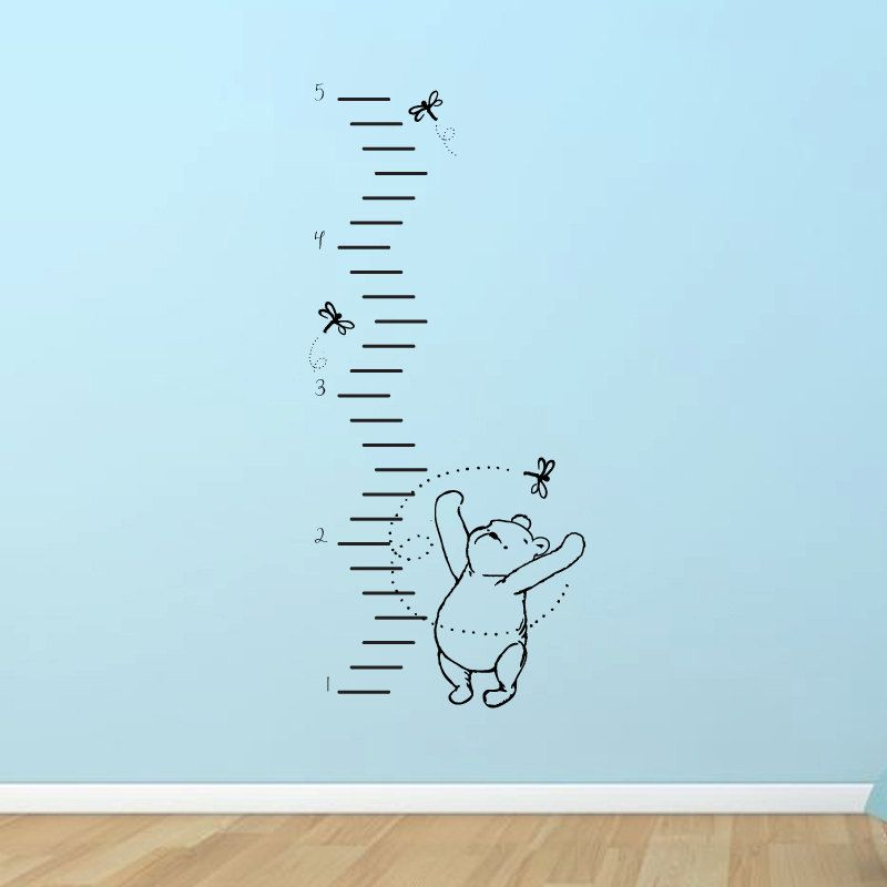 Classic Winnie The Pooh Growth Chart Vinyl Wall Decal. $42.00, Via Etsy. @