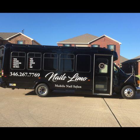 Mobile Nail Salon Limousine Bus Party Nails Limo In Houston Texas