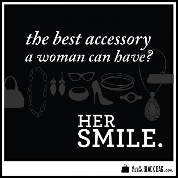 """""""the Best Accessory A Woman Can Have Is Her Smile"""" #quotes"""