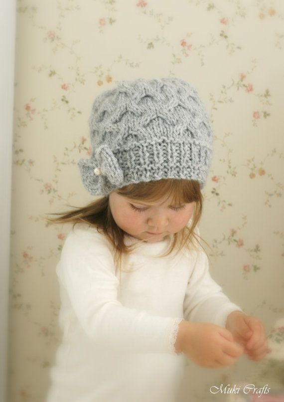 KNITTING PATTERN slouchy bow hat Krista (toddler /child /teen /woman ...