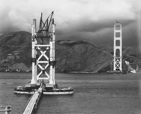 Peter Stackpole, South Tower Construction Golden Gate Bridge Circa ...