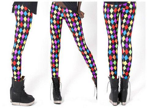 Sassy Diamond Print Leggings