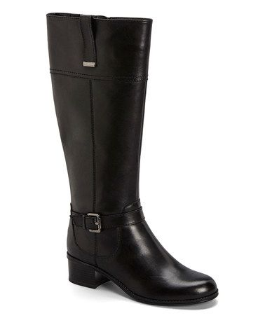 Loving this Black Carllow Leather Boot on #zulily! #zulilyfinds