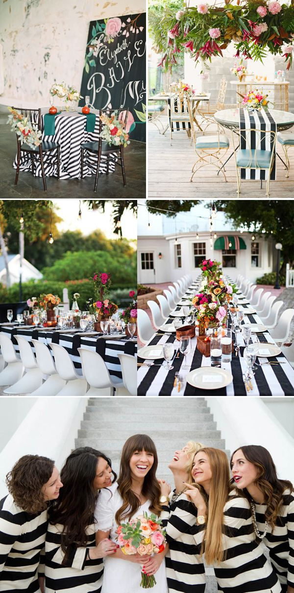 Ok, black and white stripes are not new, but they are certainly shining on the wedding scene. Black and white stripes are clean, modern, and easy to pair up with bright colors, so it's no wonder they are used so … Continue reading →