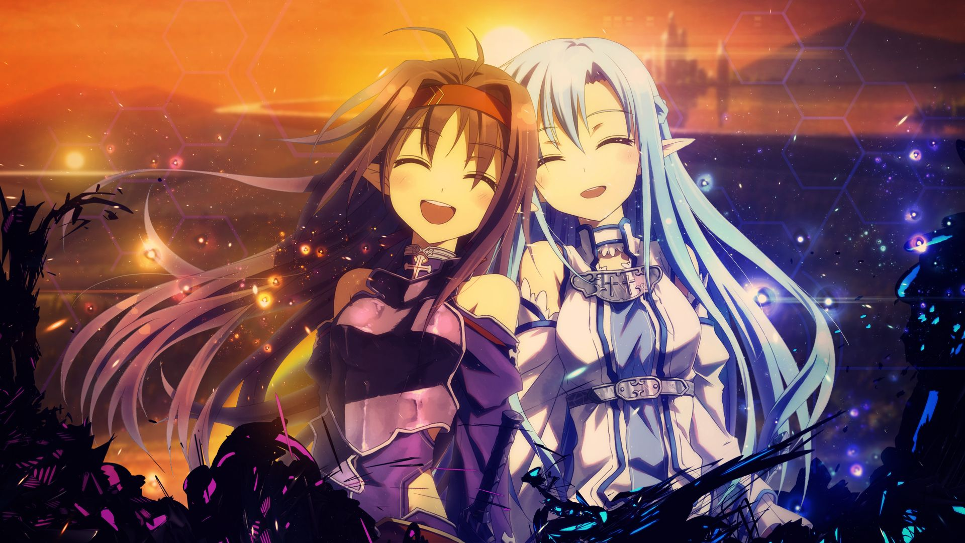 Art Online Sword Asuna And Yuuki Wallpaper By Trinexz D89jtcr 1920x1080