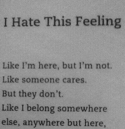I hate this feeling