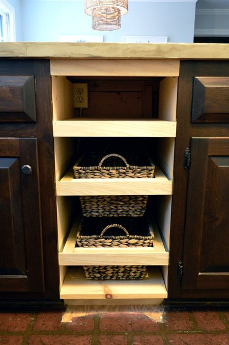 adding diyed pull out basket drawers in the kitchen adding diyed pull out basket drawers in the kitchen   drawers      rh   pinterest com