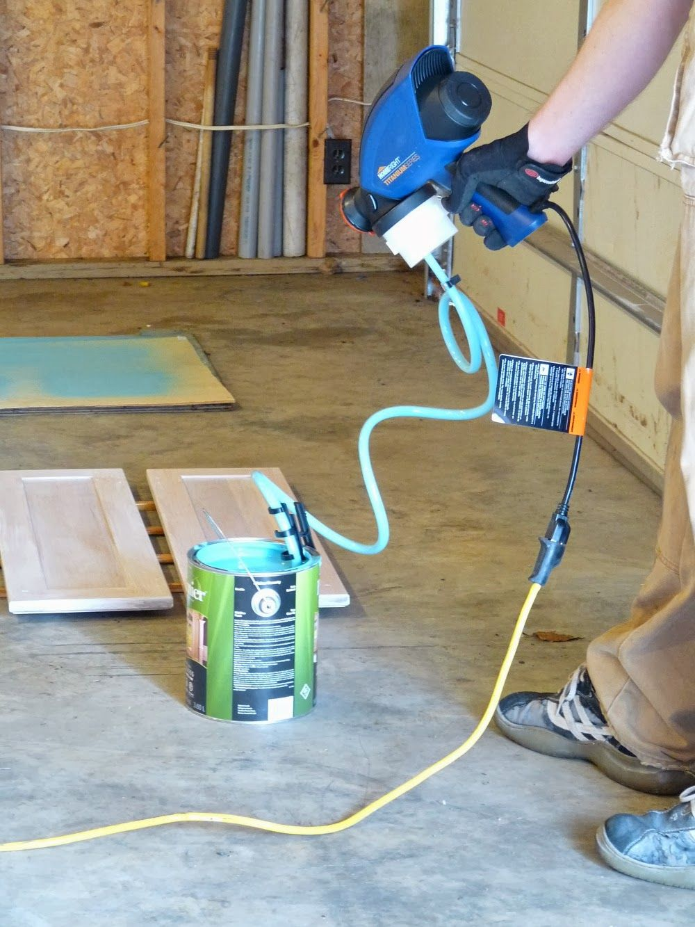 Airless paint sprayer  no compressor needed  Our home