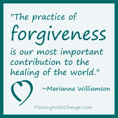 Forgiveness quote via FlowingWithChange.com