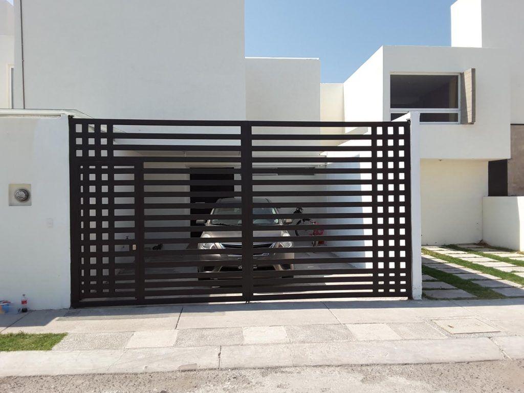 Herreria Y Estructuras En Queretaro Portones Puertas Fabricacion Comercial Resid Portones Modernos Para Casas Rejas Para Casas Diseno De Porton Principal