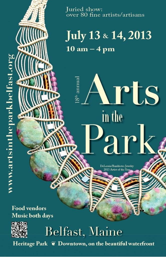 Arts in the Park, Belfast, Maine - July 13-14, 2013   Maine