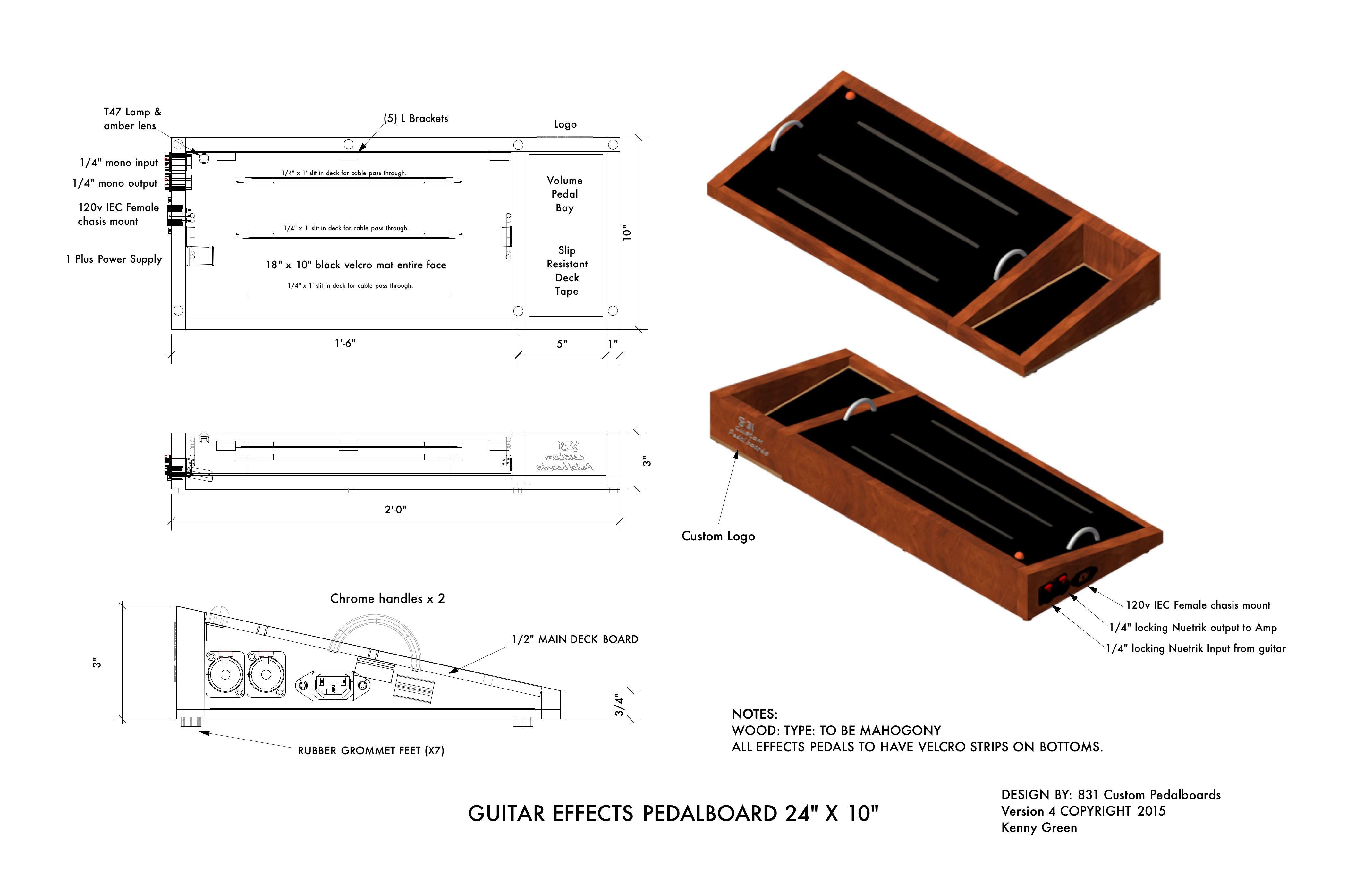 Homemade Guitar Pedal Board Plans - Homemade Ftempo
