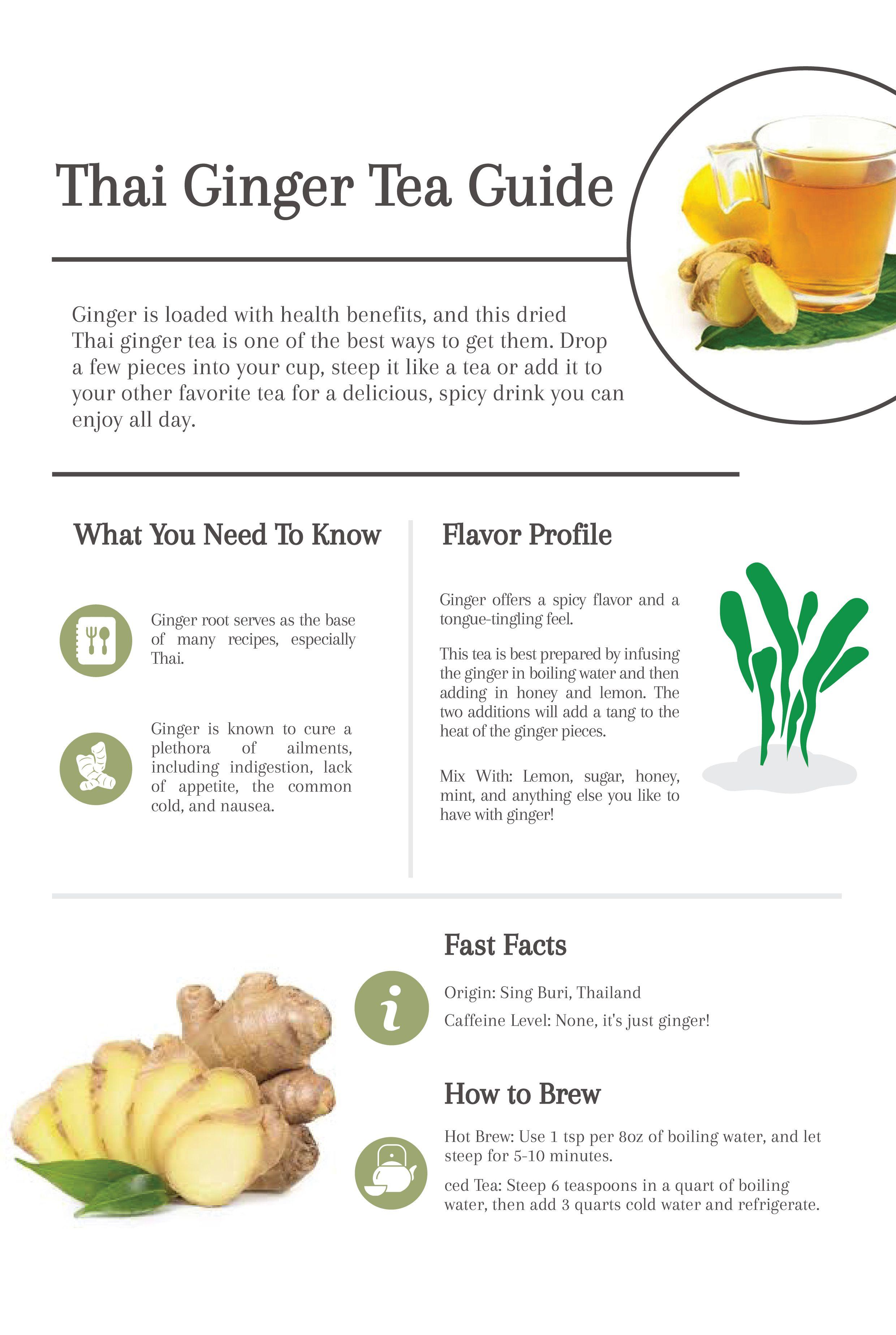 Thai Ginger Tea Cup Leaf Cup Leaf Ginger Tea Herbal Teas Recipes Ginger Tea Benefits