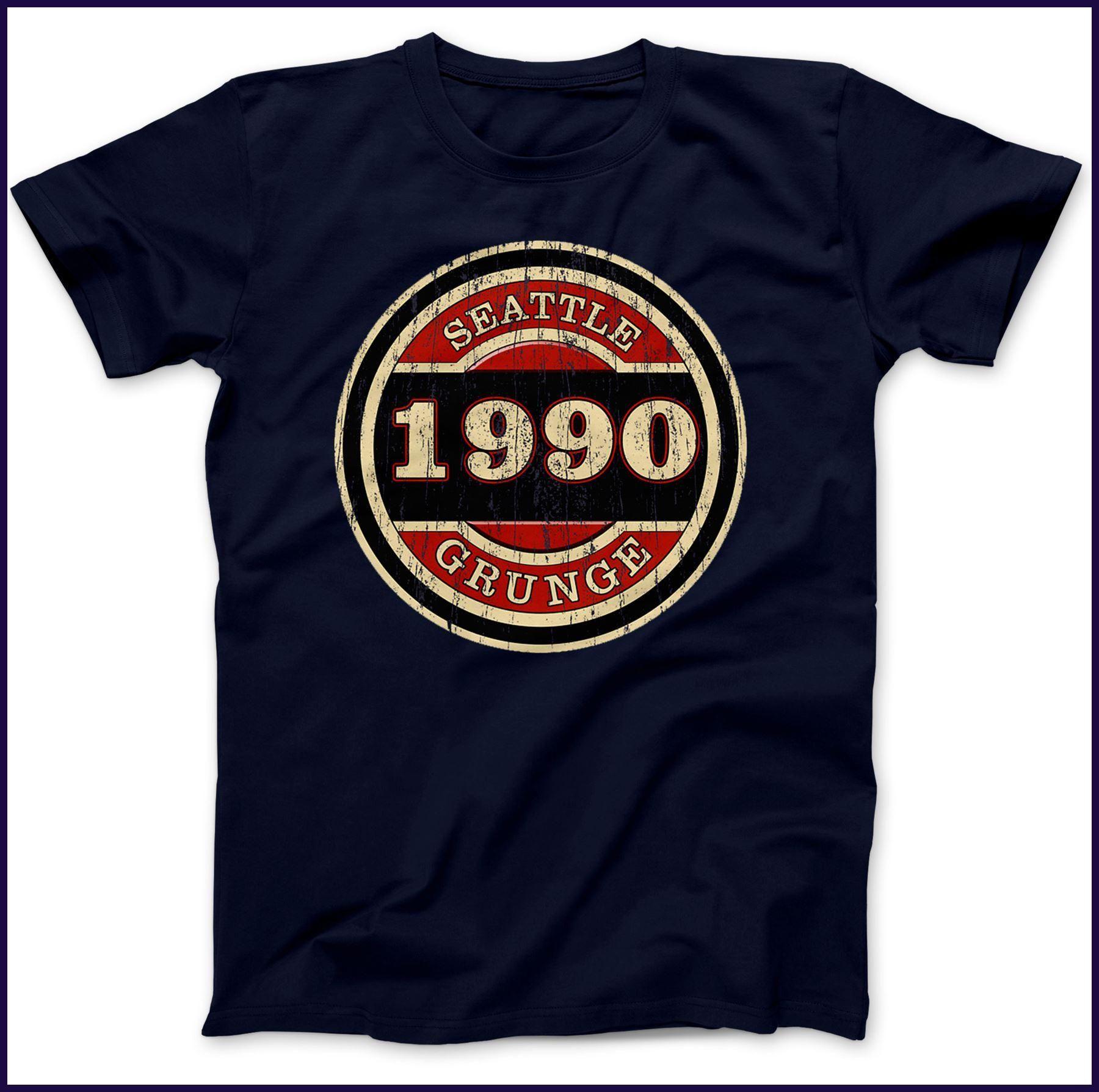 Seattle Grunge 1990 T Shirt 100 Premium Cotton Kurt Cobain Inspired
