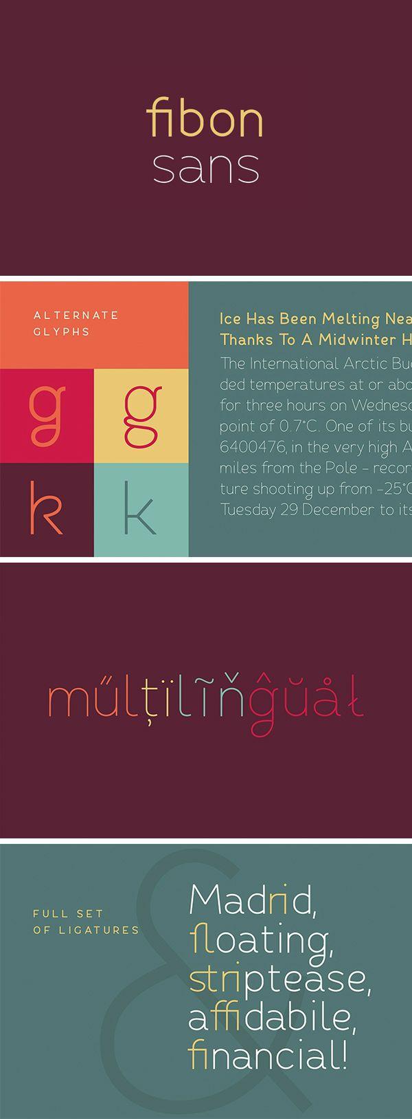 Fibon Sans – Regular Weight Free | GraphicBurger