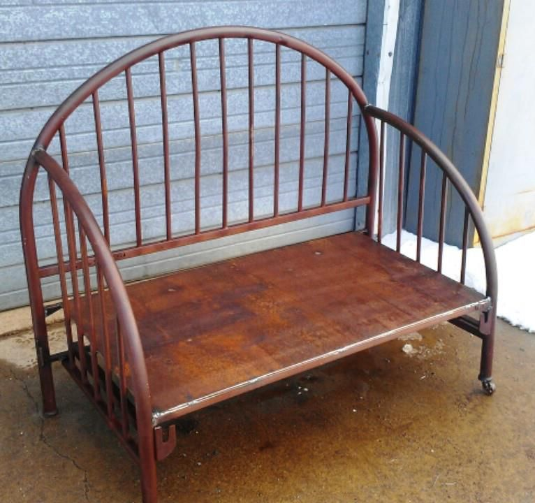 Peachy Reclaimed Metal Bedframe Now A Park Bench Utah Boutique Ibusinesslaw Wood Chair Design Ideas Ibusinesslaworg