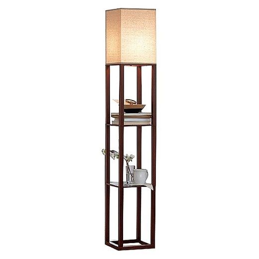 High Quality Shelf Floor Lamp With Shade   Threshold, Brown