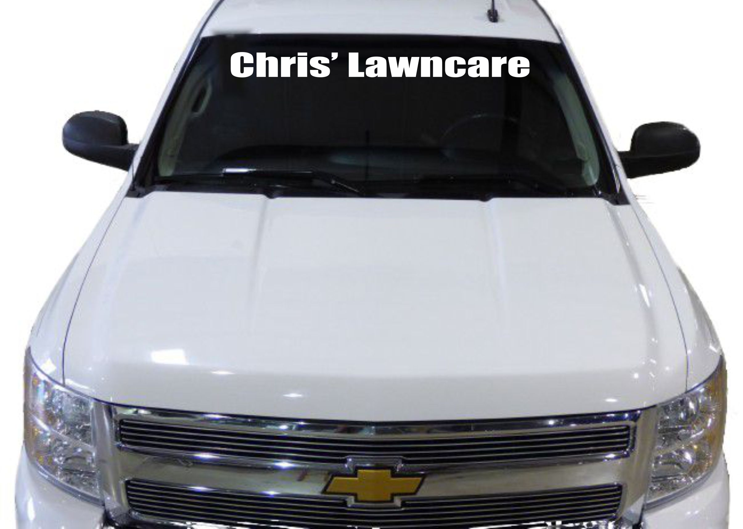 Thanks Chris Lawncare For Your Vinyl Decal Windshield Order - Decals for your car