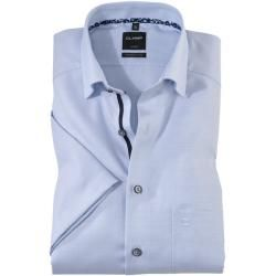 Photo of Olymp Luxor half-sleeved shirt, modern fit, under-button-down, Bleu, 37 Olymp