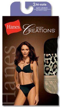 1726e36920b0 Hanes Women's Body Creations Stretch Satin Hi-Cut Panties 3 Pack (Size  8/Assorted) Hanes. $9.43