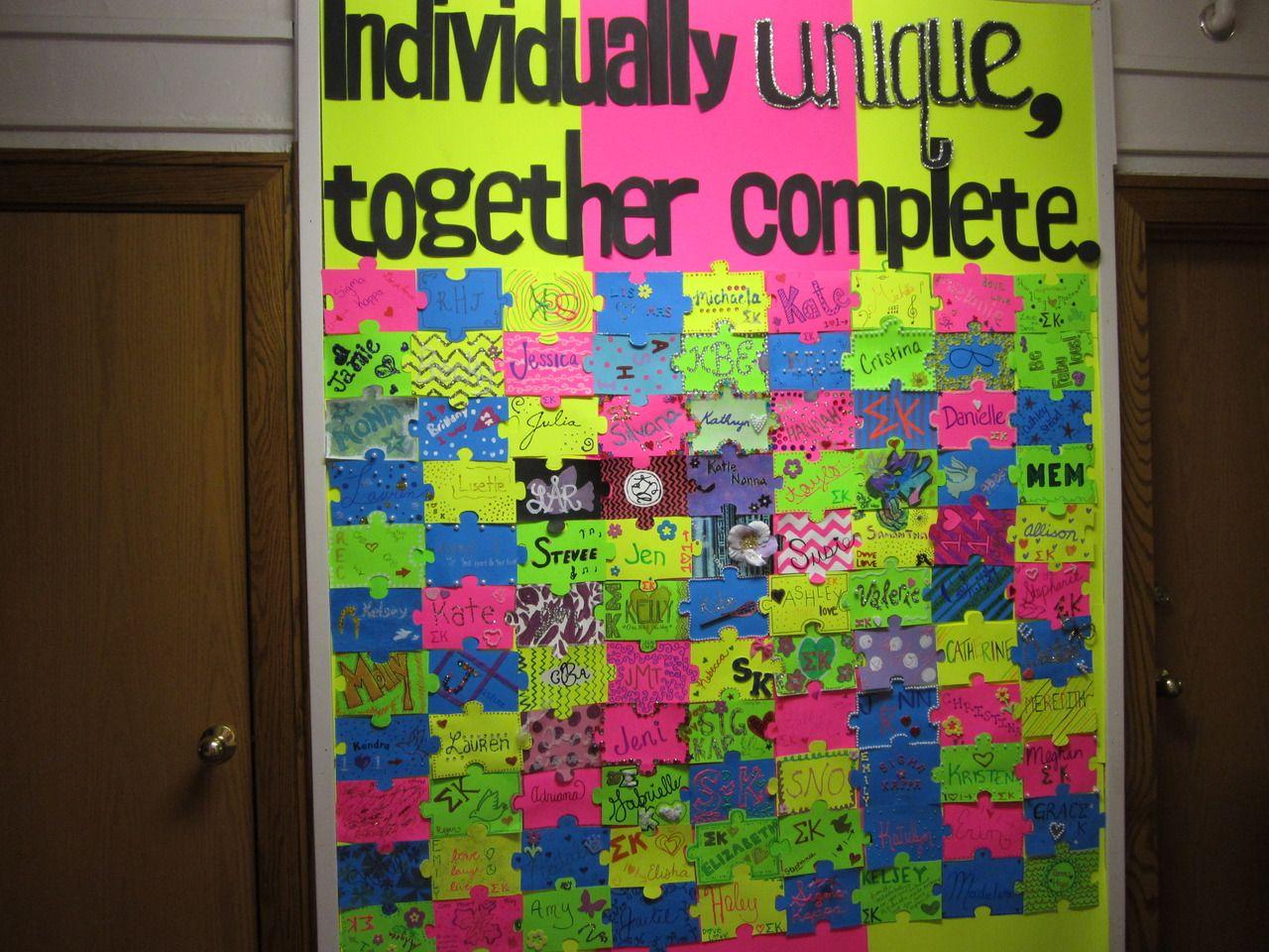 Banners Posters Sigma Kappa Bulletin Board