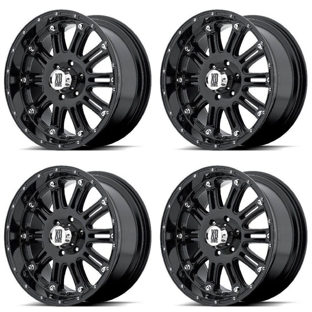 Set 4 16 Xd Series Xd795 Hoss Black Wheels 16x8 6x5 5 0mm Chevy Tahoe Gmc 6 Lug Xdseries Black Wheels Wheel Rims Gloss Black