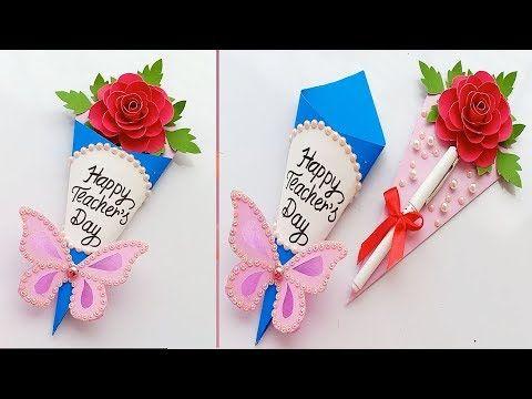 Diy Teacher S Day Pen Gift Card How To Make Teacher S Day Card Youtube Teachers Diy Teachers Day Card Teachers Day Gifts