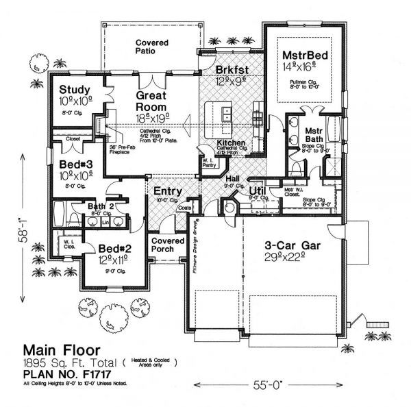 F1717-Floor-plan Houses in 2018 House plans, Floor plans, How to