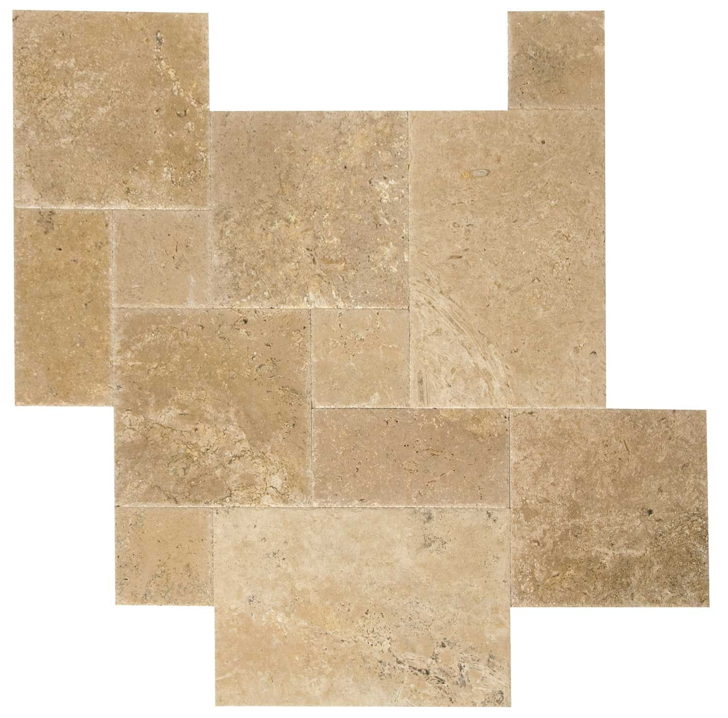 Tile for kitchen floor love the look of french pattern travertine special until brushed chiseled french pattern walnut travertine tiles dailygadgetfo Image collections