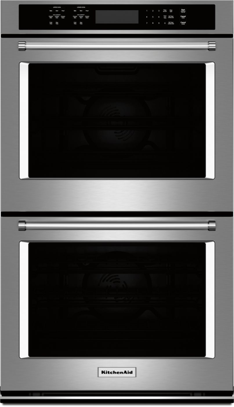 kitchenaid 30 built in double electric convection wall on wall ovens id=93864