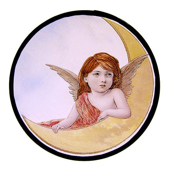 Glas In Lood Engels.Stained Glass Fragment Cherub Kilnfired Glass Angel Glass