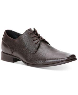 CALVIN KLEIN Calvin Klein Brodie Epi Textured Leather Oxfords. #calvinklein #shoes # all men