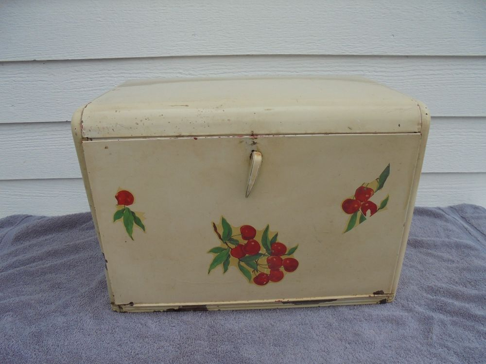 Vintage Antique Old Kreamer No 552 Tin Bread Box Bread Boxes Vintage Tins Vintage Antiques