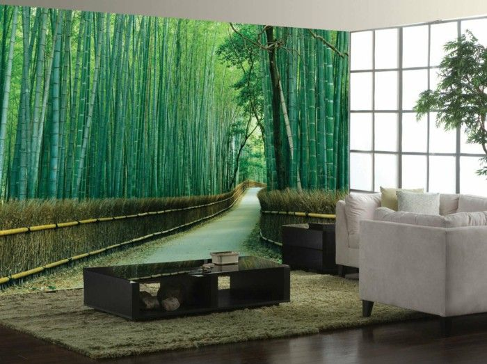 bamboo decoration decoration of bamboo wall decoration photo wallpaper - Bamboo Room Decorations