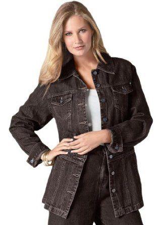 42e109f30a5 Roamans Plus Size Long Jean Jacket  39.99  jean jacket  jacket  fashion  long  jean  women