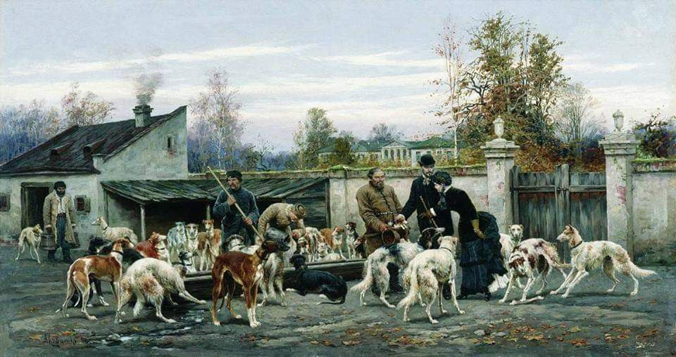 Borzoi In Russia Borzoi Best Dogs Russian Painting