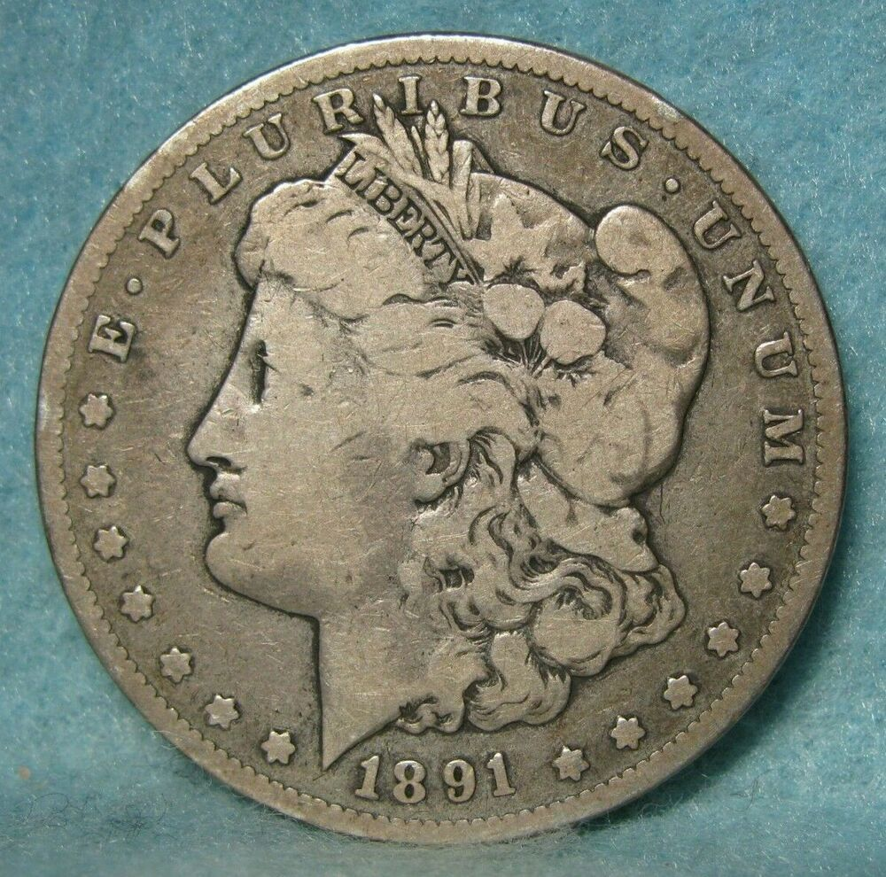 1891 Cc Carson City Mint Morgan Silver Dollar Us Coin Morgan