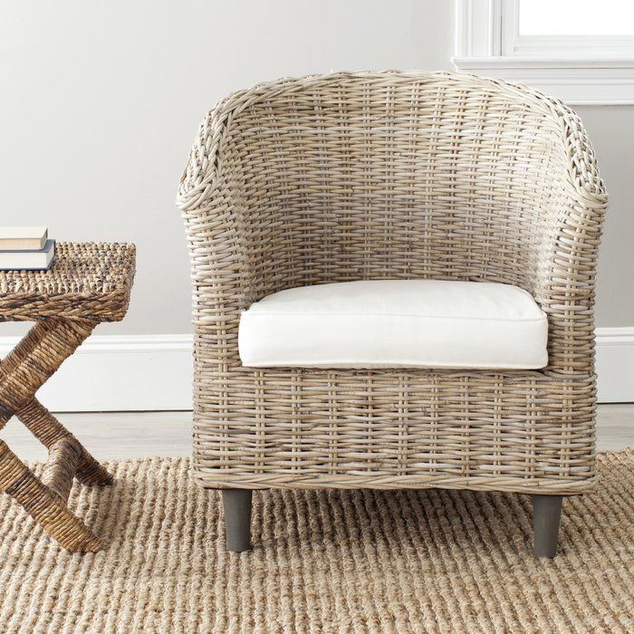 Wicker Accent Chairs.Beachcrest Home Biscayne Park Barrel Chair Furniture Wood Arm