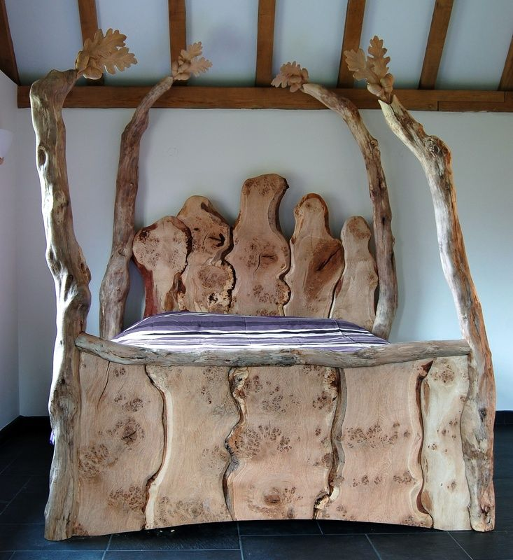 Handmade wooden beds, Bespoke handmade beds, Surreal four poster bed, Fairy  tale beds