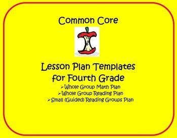 Common Core Th Grade Lesson Planning Templates  Common Core