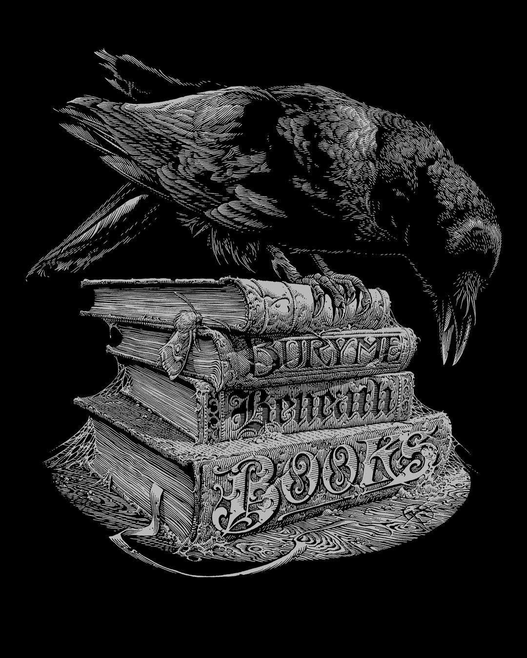 Word. Aaron Horkey In 2019 Raven Art Gouache Ink