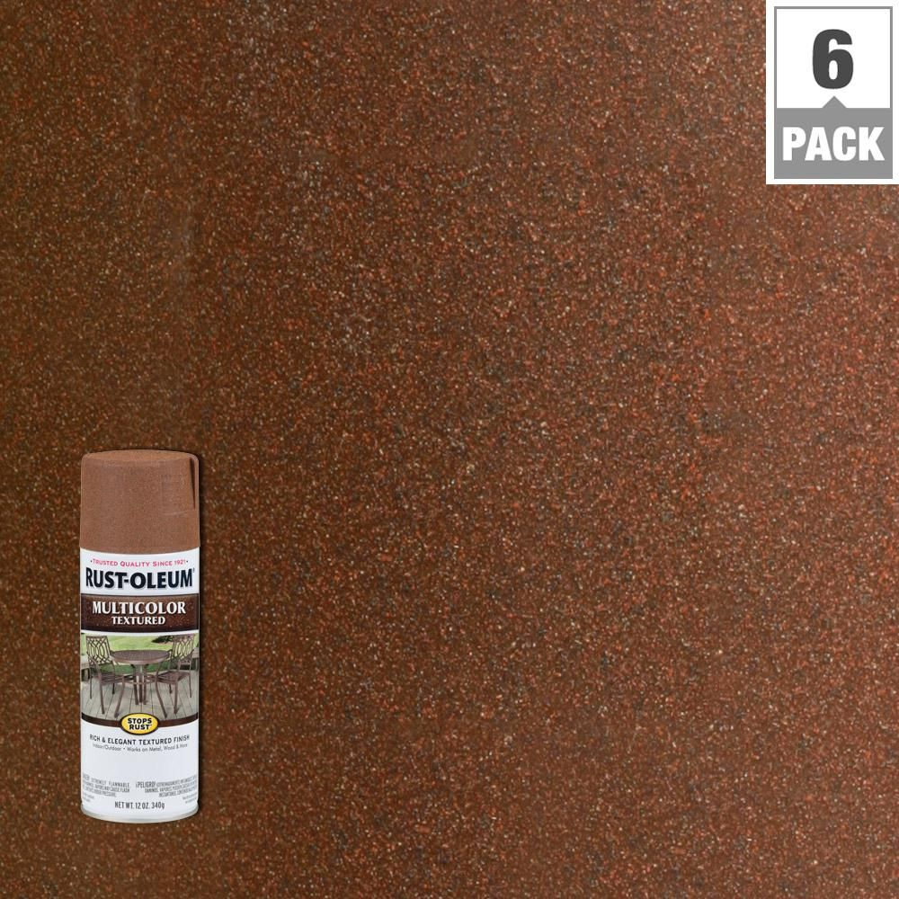 Rust-Oleum Stops Rust 12 oz  MultiColor Textured Rustic